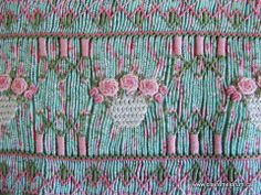 Fantastic smocking and beautiful embroidery together by Grace Knott. smocked by Claire Meldrum.  http://www.clairemeldrum.ca/updating-a-grace-knott-classic/