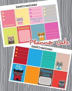 Check out this item in my Etsy shop https://www.etsy.com/listing/274716704/planner-catz-2-half-sheets-full-boxes