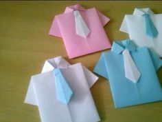 DIY Paper Crafts :: How to Make an Origami Paper SHIRTS with TIE - Innovative arts - YouTube