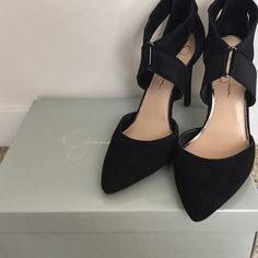 Jessica Simpson Venita leather pumps Never been worn Jessica Simpson Venita black suede pointed toe! Jessica Simpson Shoes Heels