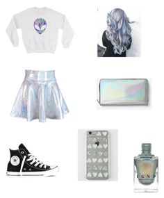 """Holographic!!!!"" by seraphina10 ❤ liked on Polyvore featuring Converse, Audiology and Kate Spade Saturday"