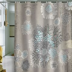 DENY Designs Iveta Abolina French Blue Shower Curtain, 69 by 72 Girl Bathrooms, Yellow Bathrooms, Upstairs Bathrooms, Downstairs Bathroom, Zen Bathroom Decor, Bathroom Ideas, Bath Ideas, Bathroom Makeovers, Bath Decor