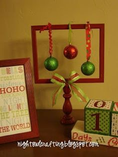 DIY holiday picture frame {from nightowl crafting}