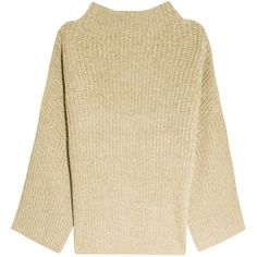 THE ROW Kaila Sweater (3,020 CAD) ❤ liked on Polyvore featuring tops, sweaters, jumper, slouchy sweater, beige top, textured sweater, beige sweater and ribbed sweater