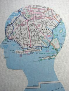 New York State of Mind, original silhouette collage Map Crafts, Map Globe, We Are The World, Vintage Maps, Illustrations, Art Plastique, Map Art, In Kindergarten, Collage Art