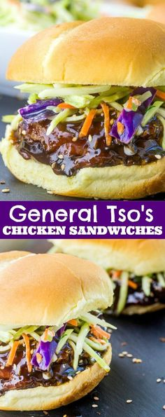 Spicy and sweet with just the perfect amount of bite, these General Tso's Chicken Sandwiches are a fun and easy weeknight dinner that satisfies everyone.