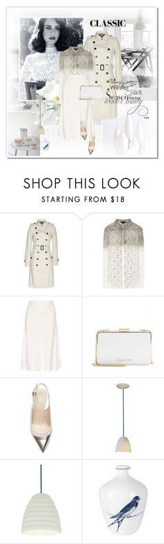 """Classic Holiday for Friends"" by rainie-minnie ❤ liked on Polyvore featuring Burberry, The Row, MICHAEL Michael Kors, Sergio Rossi, Lene Bjerre, classic, michaelkors, classy and 2014HolidayGift"