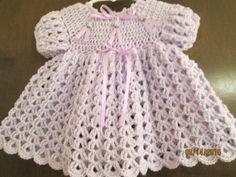Baby Dress, Crochet Baby, Lavender, Crochet Patterns, Summer Dresses, Pretty, Fashion, Moda, Baby Boy Dress