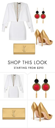 """Untitled #187"" by stylesbylex on Polyvore featuring Balmain, Marni, Yves Saint Laurent and Gianvito Rossi"