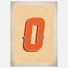 Vintage Letter O 11x14 now featured on Fab.