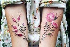 Pis Saro floral tattoo