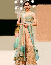 Designer Pakistani Long Bridal Dresses Collection 2013, Long Bridal Dresses for Valima Reception Item code: DR9559