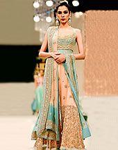 Designer Pakistani Long Bridal Dresses Collection 2013, Long Bridal Dresses for Valima Reception Item code: DR9559