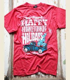 happy honkytonkin holidays!!! ChriSTMAS tee