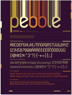 Pebble Typeface - ++ narani kannan | portfolio ++