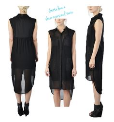 Lunch Break Craving: Sheer Oversized Tunic    Breakfast at Cindi's