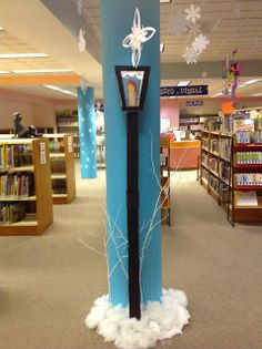 A Narnia streetlamp to welcome you to the children's department!