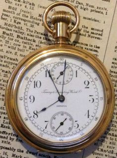 Vintage Timing and Repeating Watch Co Chronograph Pocket Watch