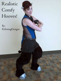 I've posted the instructable for the hooves, and the digitigrade legs are in work now! Find it at: http://www.instructables.com/id/Hooves-from-Comfy-Shoes-No-high-heels/  Great for horse, faun, deer, minotaur, centaur, pony, or creature legs!