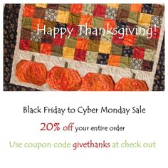 BLACK FRIDAY-CYBER MONDAY fabric sale at:  https://www.etsy.com/shop/sistersandquilters