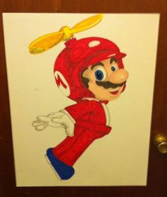 Pin the Mustache on the Mario.  Mario Party Game.   My child can plan on having Mario birthday party :p