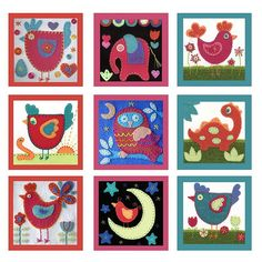 cute collage wool applique