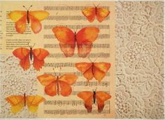 Rice Paper for Decoupage Decopatch Scrapbook Craft Sheet Vintage Butterfly
