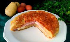 Tortilla de patatas rellena de jamón y queso | Cocina