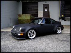 Matte black Porsche 911