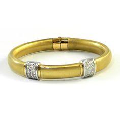Soho Enamel Granato 18-Karat White & Yellow Gold, Gold Enamel & Diamond Bracelet