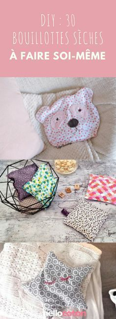 DIY : 30 bouillottes sèches à faire soi-même ! Coin Couture, Couture Sewing, Diy Clothes Rack Cheap, Sewing Online, Baby Fabric, Creation Couture, Sewing Projects For Beginners, Baby Sewing, Sewing Crafts