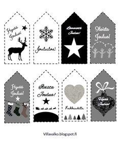 Printattavat pakettikortit löydät täältä:  http://villavalko.blogspot.fi/2014/12/printattavat-pakettikortit.html