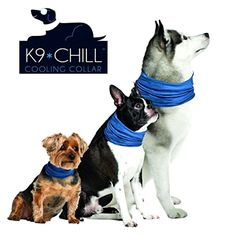 Dog Cooling Collar Large Xlarge Pet Grooming Supplies Dog cooling Bandana Blue #K9Chill