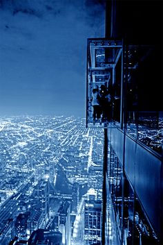 Blue Willis Tower skybox (Chicago Pin of the Day, 5/12/2014).