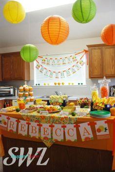 citrus themed party | Found on thehobbyholic.wordpress.com