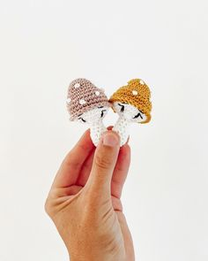 We love this crochet mushroom toys designed by @caro_tricot Crochet Mushroom, Crochet Earrings, Stuffed Mushrooms, Embroidery, Photo And Video, Knitting, Toys, Instagram, Design