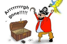 Argon (Ar) is a pirate exclaiming that his coins are 'Arrr gone!'