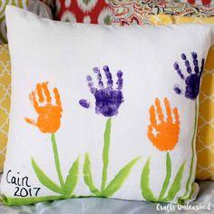 Handprint Flowers Pillow Tutorial: Great Gift Idea - Consumer Crafts