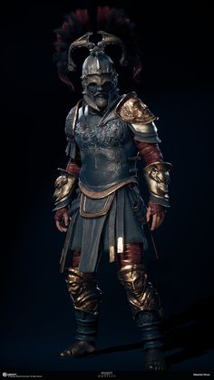 My name is Sabin Lalancette and I'm a member of the Character Production Team for Assassin's Creed Odyssey at the Québec Studio. Assassins Creed Art, Assassins Creed Odyssey, Fantasy Armor, Dark Fantasy, Ancient Armor, Roman Warriors, Greek Warrior, Templer, Armor Concept