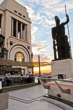 The Azotea at the Circulo de Bellas Artes at sunset - Madrid, Spain