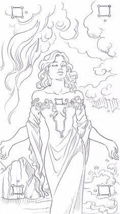 Goddess of the Four Elements by Toradh.deviantart.com on @deviantART