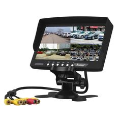 (59.46$)  Buy here - http://aizsw.worlditems.win/all/product.php?id=32802723502 - Eyoyo 7 Inch HD 4 Split Quad Video Display 4CH AV Input TFT LCD Car Rear View Monitor Free shipping