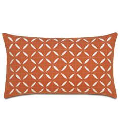 Breeze Tangerine Grid Oblong from Eastern Accents