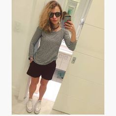 Dujour - BiancaCoimbra is wearing Converse Sneakers, Zimpy Shorts, ZXite Sweater and Evoke Glasses