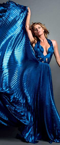 ZUHAIR MURAD Couture on Model Gisele Bündchen, photographers Inez & Vinoodh for Vogue, Paris, November 2013