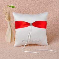 Red White Ring Pillow - eBay