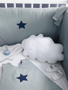 tour de lit bébé cyrillus cift katli keten mavi patikli ayicikli altin yastigi | hediyelik  tour de lit bébé cyrillus