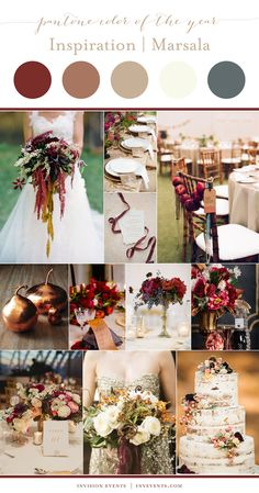 Perfect fall Marsala inspiration. Using Pantone's color of the year in your wedding.