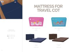 Mattress for Travel Cot by Asalvo l #madewithlove