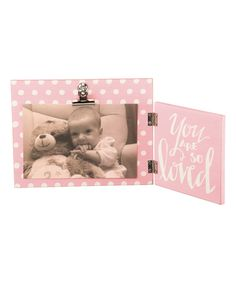 Love this Pink 'So Loved' Photo Frame by Primitives by Kathy on #zulily! #zulilyfinds